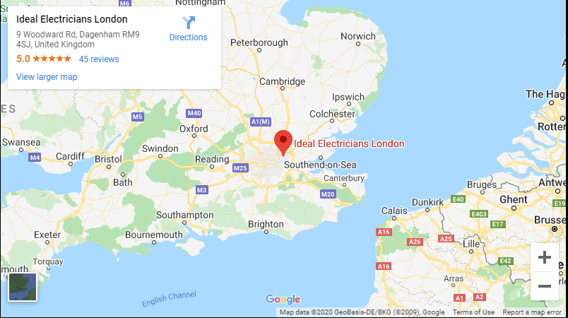 Ideal Electricians Google Map